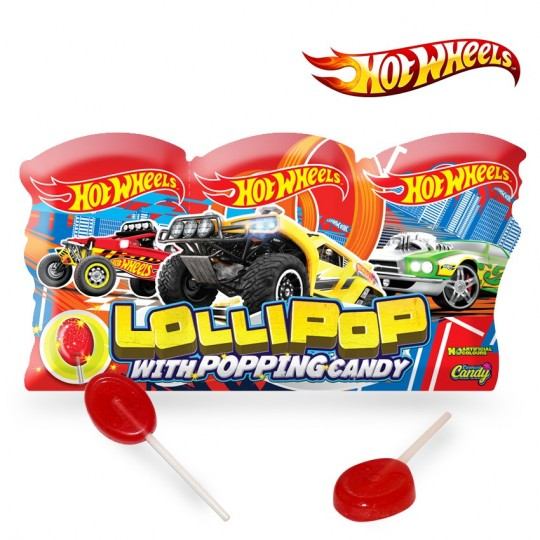 Hot Wheels Lollipop with Popping Candy