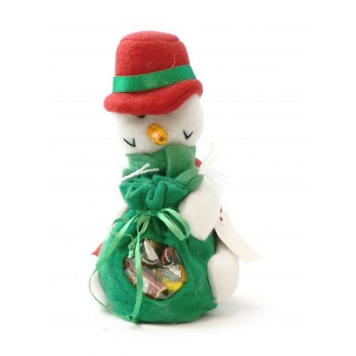 Christmas Snowman with chocolates
