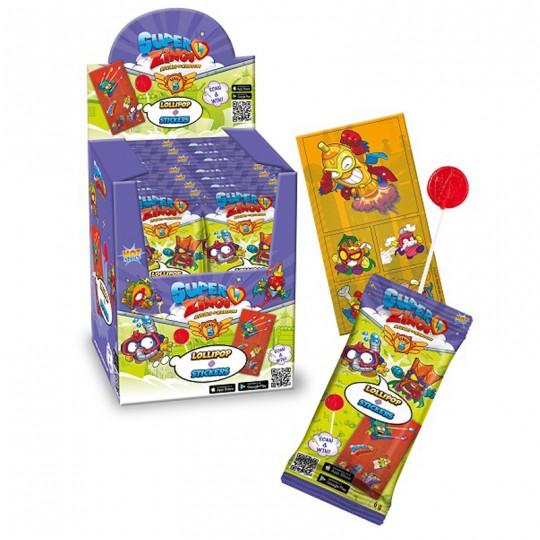Super Zings Lollipop with sticker